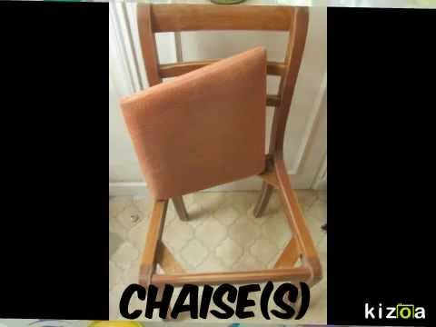 tutoriel comment relooker une chaise ancienne ou moderne peinture tissus youtube. Black Bedroom Furniture Sets. Home Design Ideas