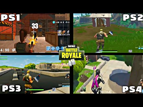 FORTNITE PS1 VS PS2 VS PS3 VS PS4