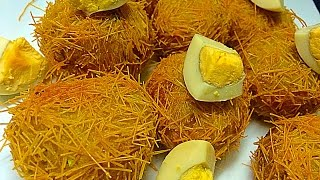 Malabar Kilikkood കിളിക്കൂട്  Chicken Bird's Nest Snack / Iftar / Nombuthura Dish for Ramadan