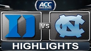 Duke vs North Carolina | 2014 ACC Basketball Highlights