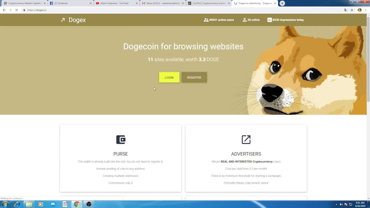 Dogex - Earn free dogecoin by viewing ads (pinoy tutorial