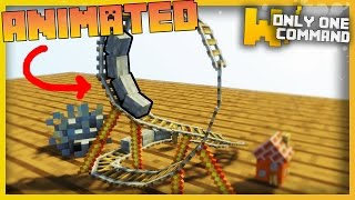 TINIEST MINECRAFT ROLLER COASTER EVER With Only Two Command Blocks! (MicroCraft Ep.1)