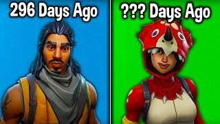 15 RARE SKINS WE HAVEN'T SEEN FOR 100+ DAYS! (Fortnite Rarest Item Shop Skins 2019)