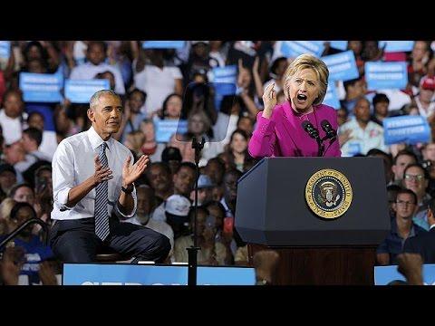 """Obama soutient Hillary Clinton, """"blanchie"""" par le FBI"""