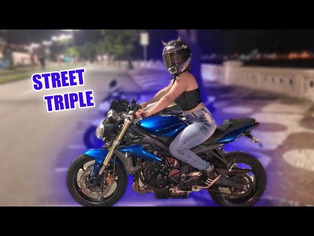 ANDEI COM A STREET TRIPLE DA TRIUMPH E FIQUEI COM MEDO? - Thays Rx