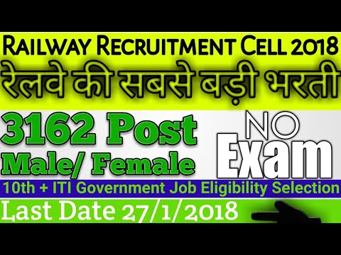 Railway Recruitment Cell Northern Railway New Delhi 3162 Posts Apprentice Latest Railway Job 2018.