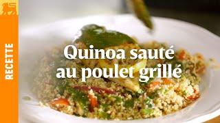 Recettes Delhaize €3 - Quinoa sauté au poulet grillé
