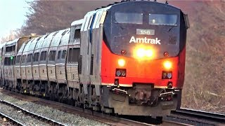 Amtrak Heritage Unit w Private Cars + More Cool Trains