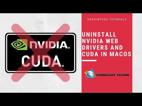 How to uninstall CUDA and Nvidia Web Drivers from MacOS Mojave | The