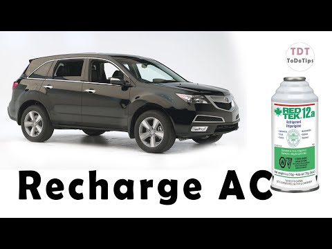 How to Recharge Acura MDX AC and fix it.
