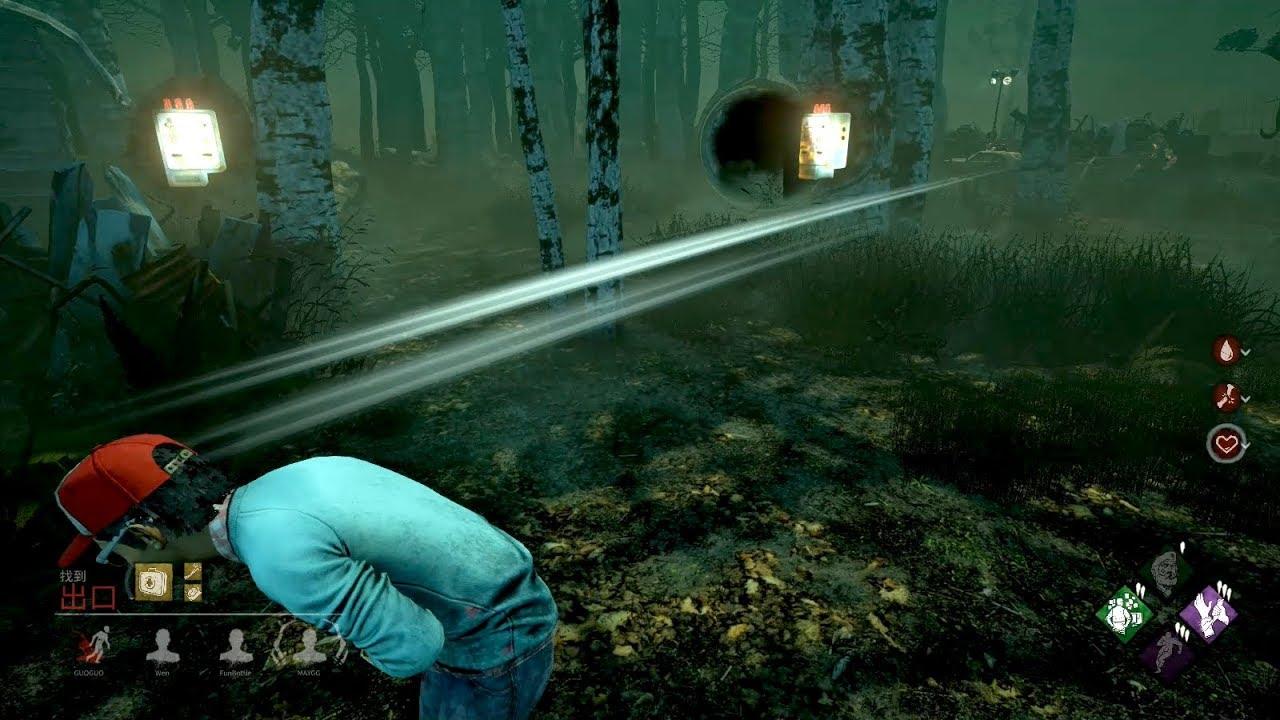 「dead by daylight黎明死線」信仰兔女走錯棚全地圖狙擊、喂這裡是DBD不是CSGO啊!︻╦̵̵͇̿̿̿̿╤───(字幕)