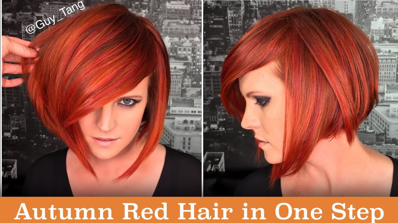 Autumn Red Hair in One Step - YouTube