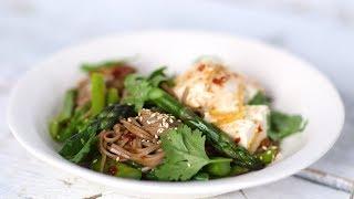【三十分鐘上菜】蕎麥涼麵佐蘆筍、豆腐|本餐熱量 426大卡