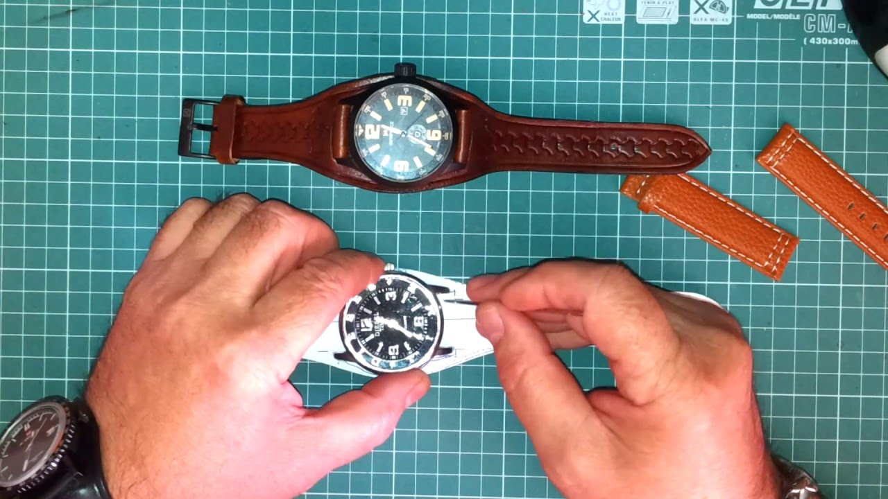 Бесшовный Ремешок для часов из натуральной кожи