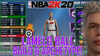 LAMELO BALL ARCHETYPE & BUILD FOR NBA 2K20! SHARP TAKEOVER + 40PT GAMEPLAY! (NBA 2K20 DEMO)