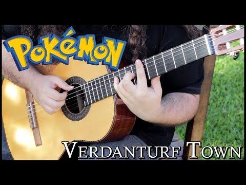 Chords for Pokémon - Verdanturf Town (Guitar arrangement)