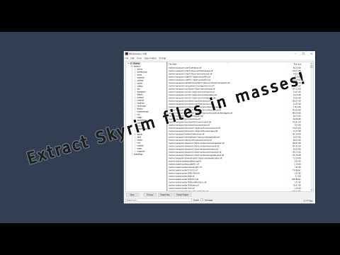 Extract Skyrim, Fallout, ... Files Easily - BSA Browser Tutorial