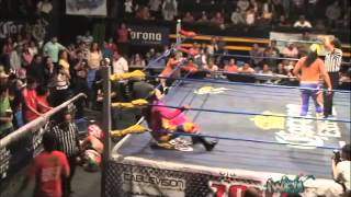 Psycho Clown, Murder Clown y Monster Clown vs Negro Navarro, Trauma I y Trauma II