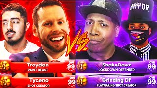 TYCENO & TROYDAN vs GRINDING DF & SHAKEDOWN: WINNER GETS NEW PARK!! BATTLE OF THE MAYORS NBA 2K21