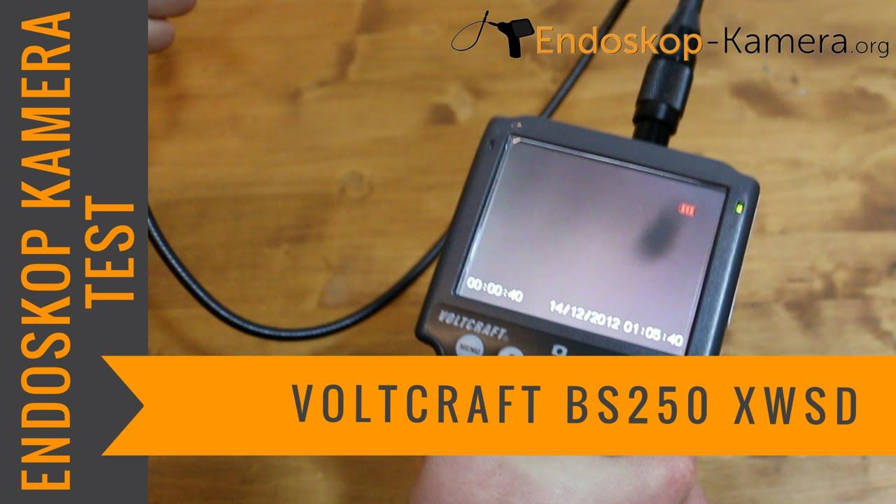 voltcraft bs 250xwsd endoskop kamera test youtube. Black Bedroom Furniture Sets. Home Design Ideas