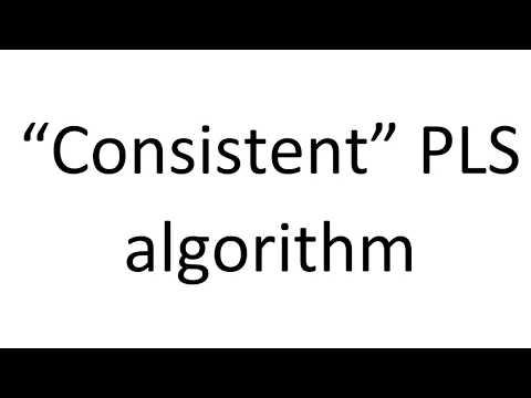 Consistent PLS Algorithm