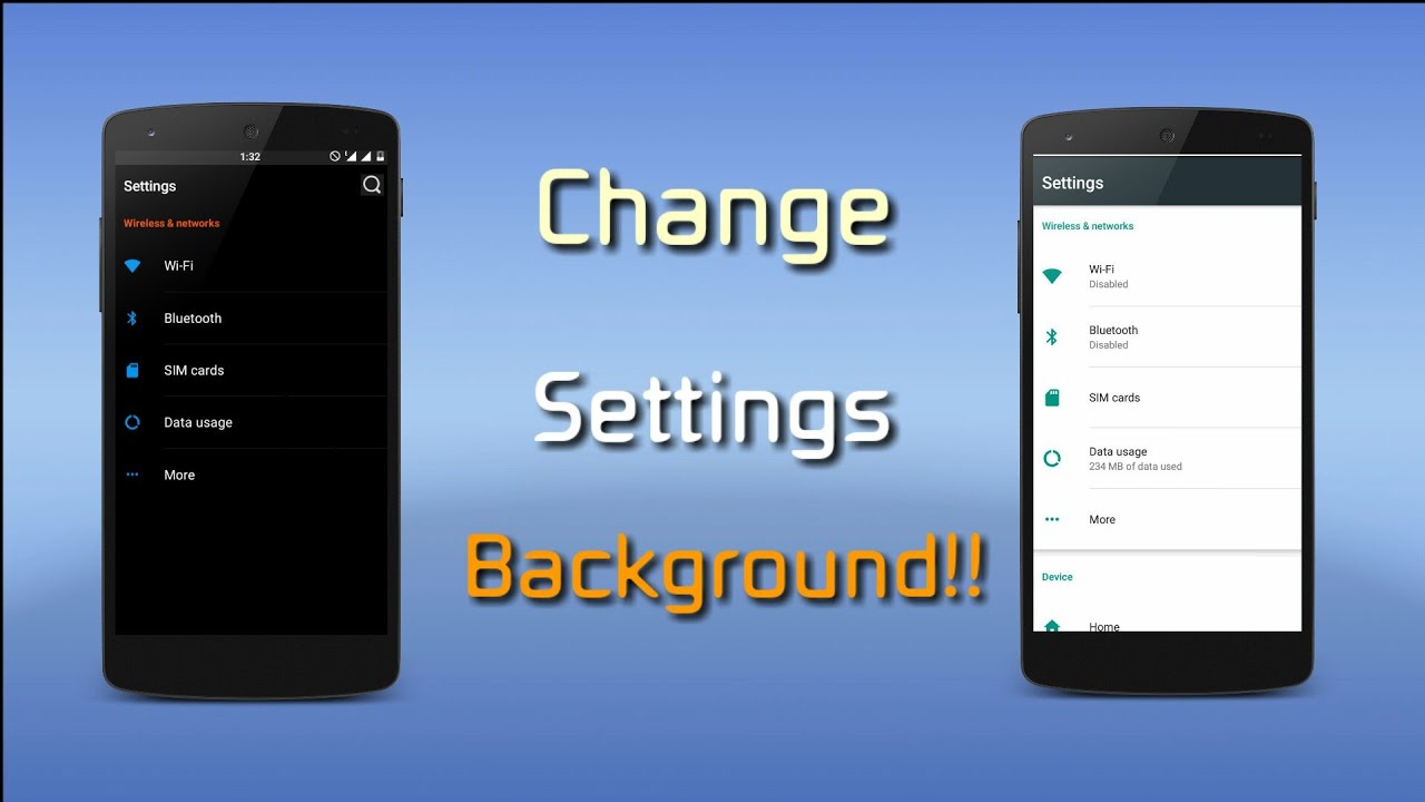 how to change settings background of any rom kklpmmandroid n youtube