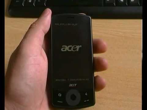 Acer be Touch E101 Включение системы