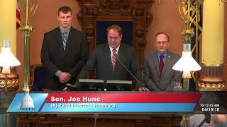 Sen. Hune welcomes Adam Coon to the Michigan Senate