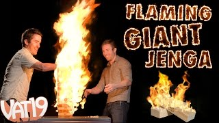 Playing With Fire: Flaming Giant Jenga