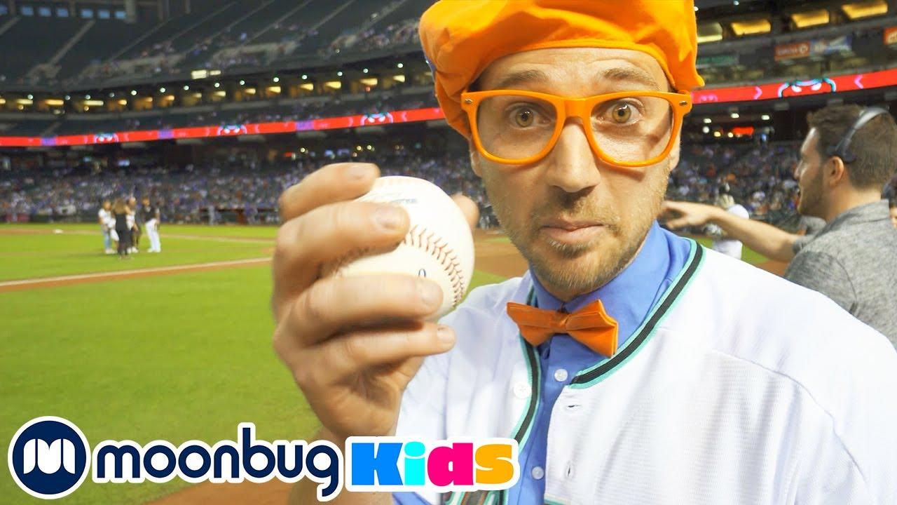 Blippi Visita un Estadio de Beisbol | Vídeos Educativos para Niños | Moonbug Kids en Español