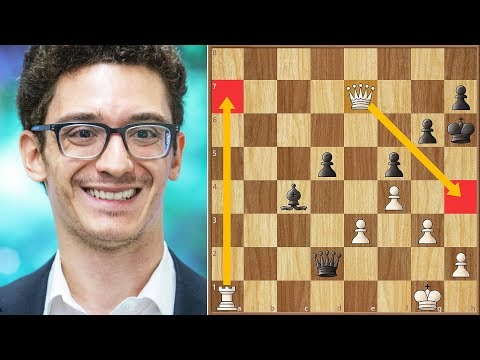 Incredible Resource! || Carlsen vs Caruana || World Fischer Random Chess Championship (2019)