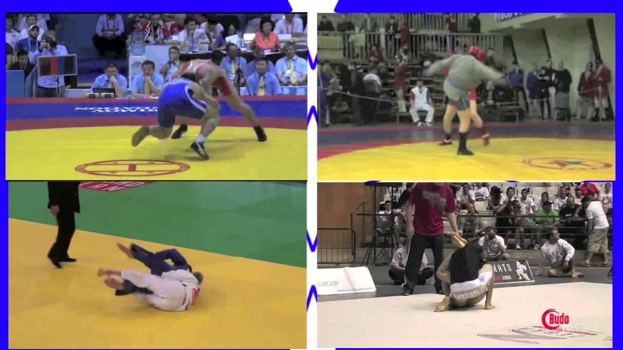 Wrestling - Sambo - BJJ - Judo Highlight Comparison Video