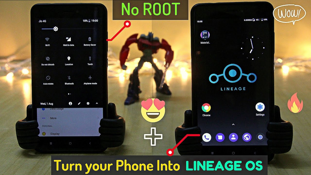 [3MB] Lineage OS 15 1 Launcher + Oreo Notification Bar For Any Phone  (Android 5 x-8 x)