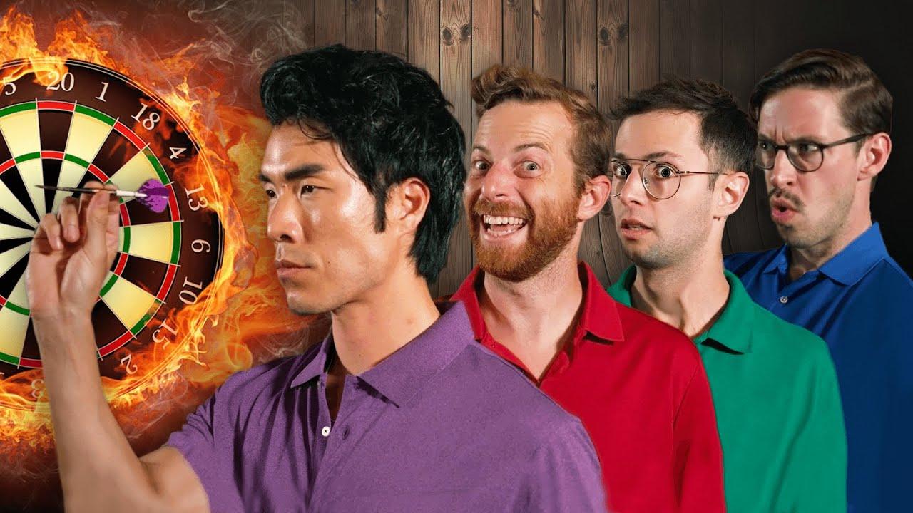 Can 4 Amateurs Beat A Pro Darts Player?