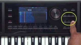 Roland FA-06/08 - How to select Tones