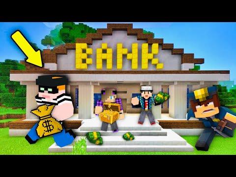 Ποιός έχει την καλύτερη τράπεζα? Minecraft Bank Simulator Let's Play Kristina