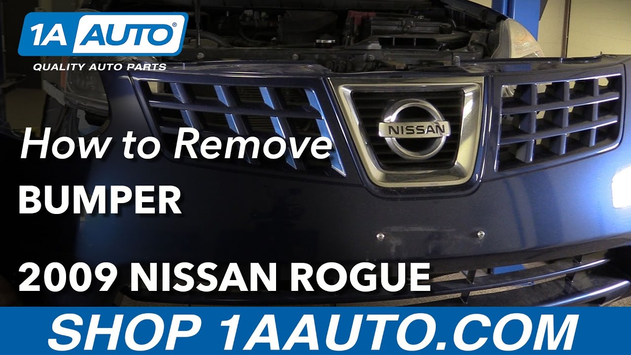 How to Remove Reinstall Bumper Fascia 07-13 Nissan Rogue