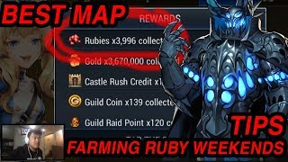 Seven Knights - BEST MAP FOR FARMING RUBY ON WEEKENDS (12RUBY/7KEY)