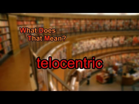 What does telocentric mean?