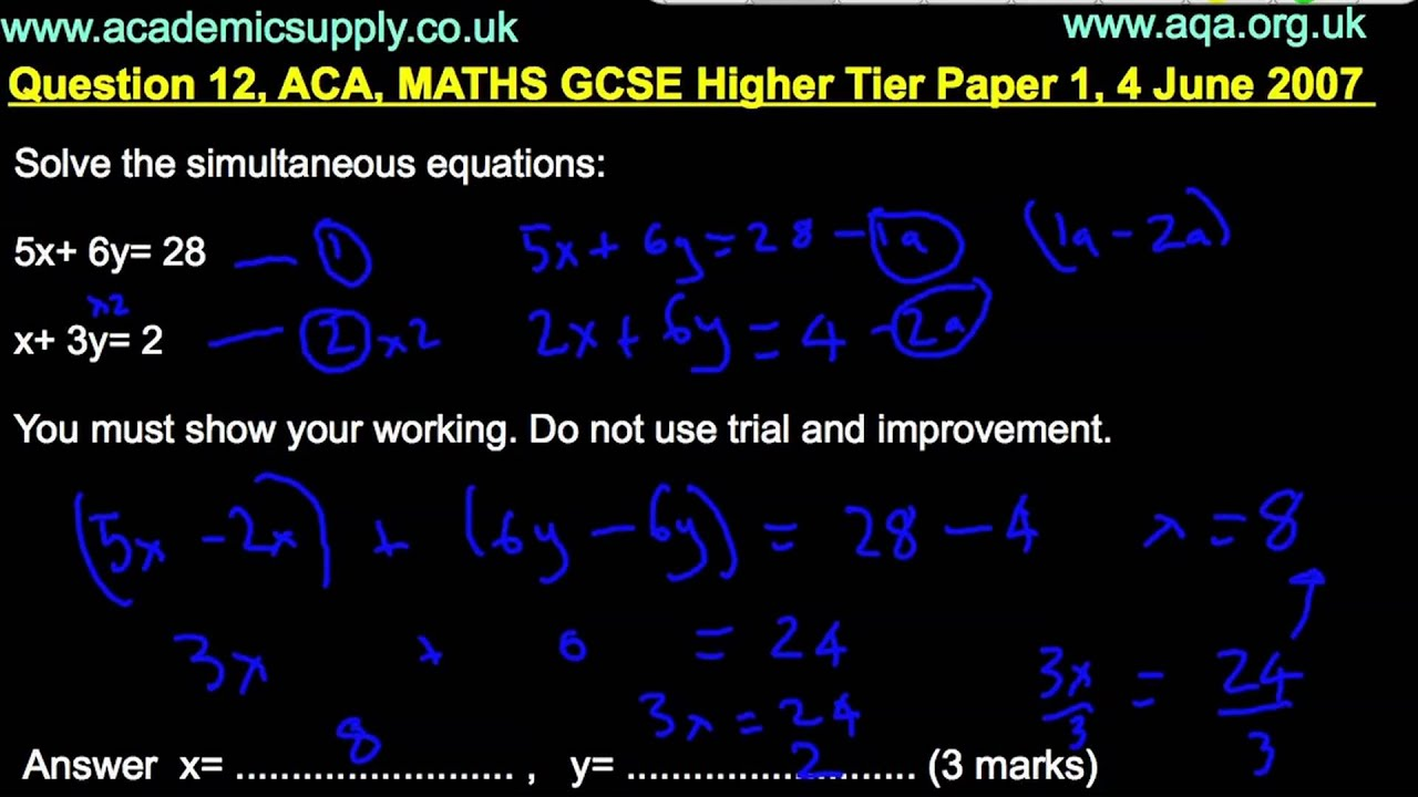 What aqa maths gsce exams will i be taking tomorrow?
