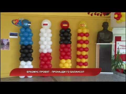Македонија денес - Еразмус проект - пронајди го балансот