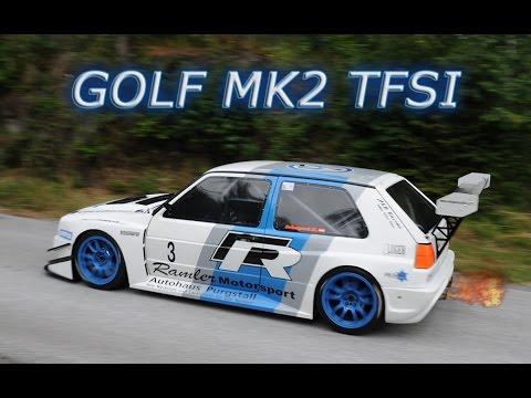 Vw Golf 2 Tfsi ˜� Mk2 ˜� Hillclimb ˜� Flames Amp Drift ˜� 480hp