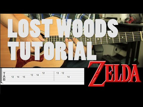 Zelda - Lost Woods Tutorial Guitarra + TAB // Guitar Lesson (HD)