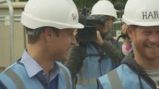 William and Harry lend a hand to do up homes for ex-service personnel