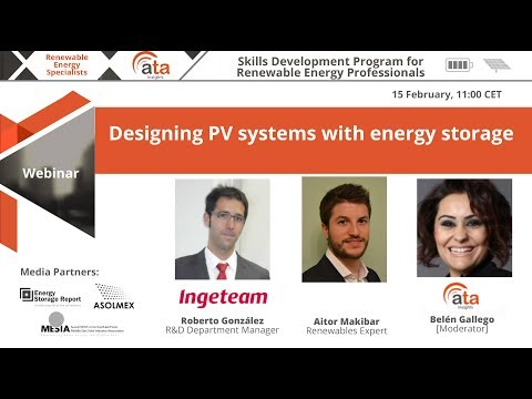 Webinar: Designing PV systems with energy storage