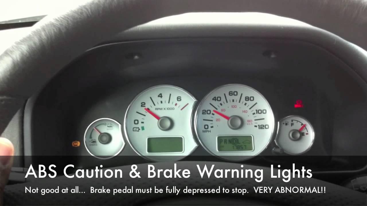 2007 Ford Escape Wiring Diagram Ford Escape Hybrid Brake Problem Youtube