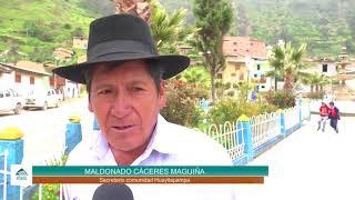 Inauguración del sistema de riego en Huayllapampa - Antamina