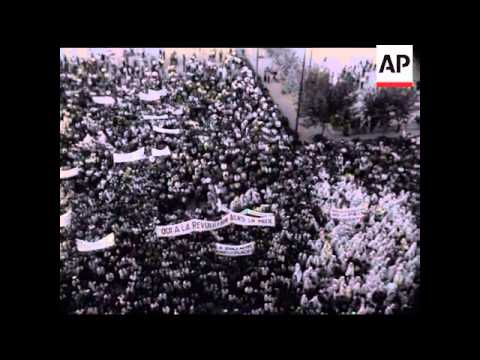 ALGIERS DEMONSTRATIONS   - NO SOUND