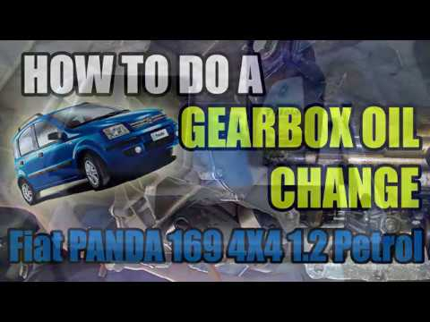 Fiat Panda 169 1 2 4x4 How To Do A Gearbox Transmission Oil Change Youtube