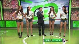 Las chicas de Miss Copa del Mundo en Contacto Deportivo